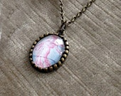 French postage stamp necklace pendant