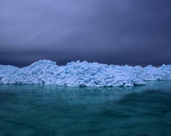 Ice Mountain - 8X12 - Fine Art print - Hahnemühle Photo Rag 100% Cotton Acide Free
