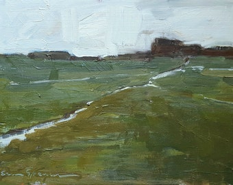 Greening Up | Original Painting Oil Painting Landscape Painting | 6.5 x 9.5