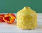 yellow Bud vase, SECONDS