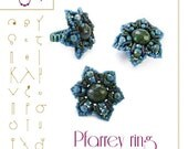 Beading tutorial / pattern Pfarrey ring with Quadra Tile. Beading instruction in PDF – for personal use only