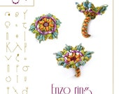 Beading tutorial / pattern Enzo ring. Beading instruction in PDF – for personal use only