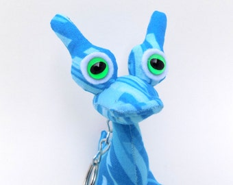 Cute Keychain, Stocking Stuffer Toys for Boys, Stocking Stuffers, Alien Keychain, Keychain by Adopt an Alien named Leo