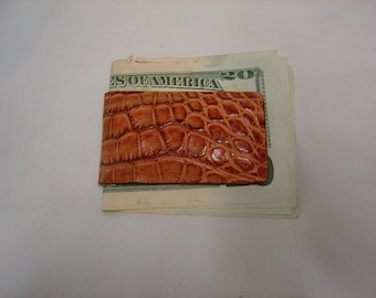 Genuine  Alligator Magnetic Money Clip
