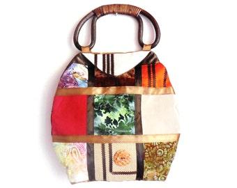 Handbag...Purse...Hand made Purse...Patchwork Design Purse...
