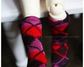 ABJD Dollfie TG LTF TeenieGem Little Fee cute argyle socks