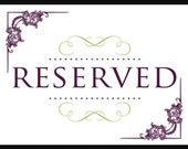 RESERVED FOR SHIRLEY