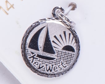 14K White Gold Charm - Key West - DCL