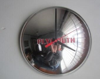 1947 Plymouth Hubcap Clock no.2358