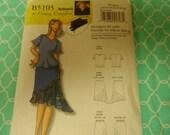 B7utterick 5105 Women's Connie Crawford  Blouse, Top and Skirt Pattern Sizes Xx;-1X-2X-3X-4X-5X-6X