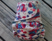 Stay Dry One Size Overnight Fitted Cloth Diaper in Hearts