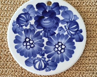 Hand Painted Ceramic Wall Hanging
