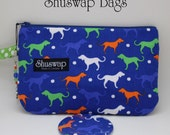 Dogs Dogs Dogs Wristlet and Mirror Set
