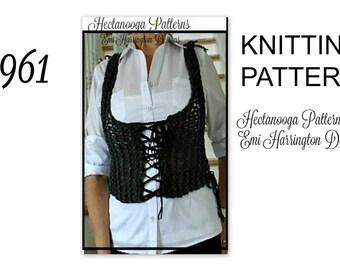 Knit Vest -KNITTING PATTERN, CARDIGAN- Age 6 to Adult Xl, Beginner knitting, child, teen, women, #961