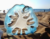 Fused Glass Sand Dollar Suncatcher