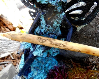 FREE Shipping, Magic Wand, Spalted Maple wood for cleansing spells, Healing, natural wood wand