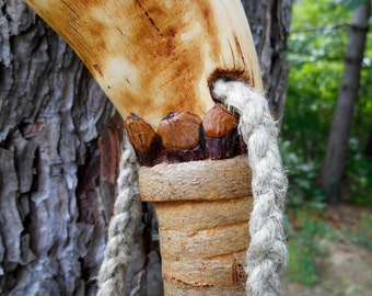 Root Walking Stick, Wood Hiking staff with Natural finish and Bark wrap, One of a Kind Hiker, statement piece
