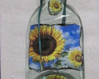 Sun Flowers bottled up