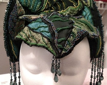Earth Mother, Wood Nymph Crown, Jungle Queen Headdress, Belly Dance, Fae, Pixy, Halloween