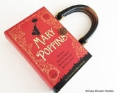 Mary Poppins Recycled Book Purse - Mary Poppins Book Clutch - Book Cover Handbag