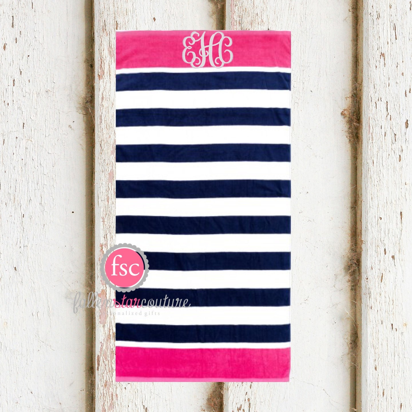 Personalized Towels: Monogrammed Beach Towels Personalized Beach Towels