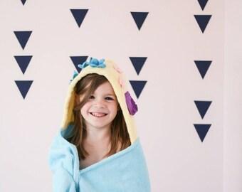 Personalized Mermaid hooded towel