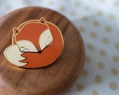 Sleepy Mr Fox ENAMEL PIN