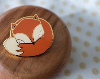 Sleepy Mr Fox ENAMEL PIN