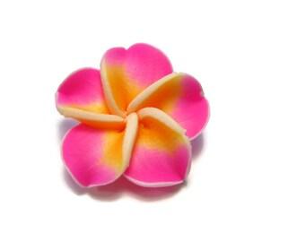 20 mm Polymer Clay Plumeria Flower Beads set of 4 (P23)