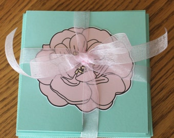 Floral Fold-out Note Cards -- Set of 4