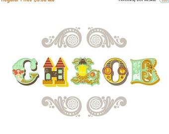 "SHOPWIDE SALE 1/2 OFF Sale 10X8"" chloe alphabet letters name"