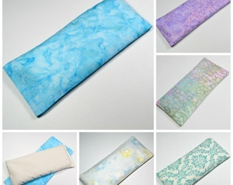 6 Wholesale Eye Pillows with Covers  8x4 inch - Lavender, Unscented or Both