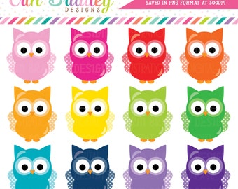 Owls Clipart Graphics Instant Download Commercial Use Animal Clip Art