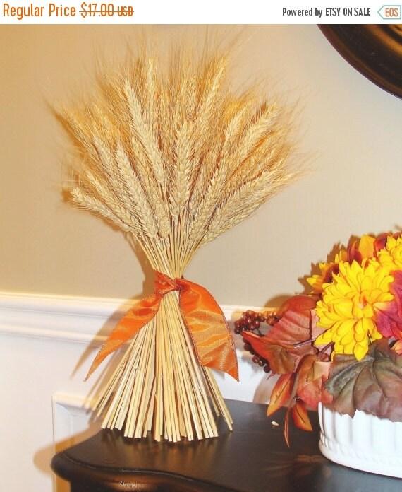 Fall wreath sale wheat sheath fall decor by elegantwreath on etsy - Thanksgiving decorations on sale ...