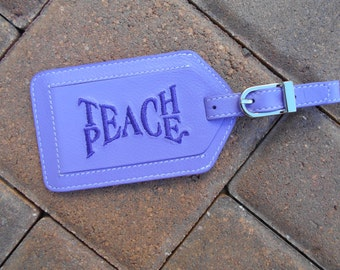 Leather Luggage Tag Teach