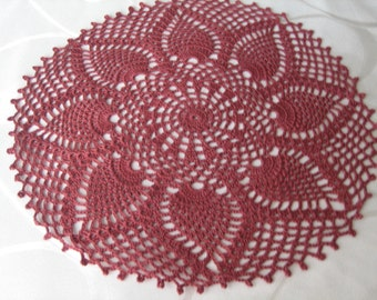Crochet,  pineapple designed  doily, new, ready to mail