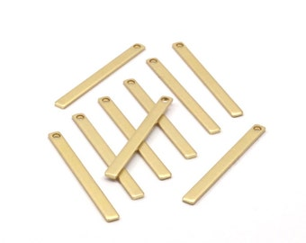 Modest Tiny Jewelry, 30 Raw Brass Bars (35x3x1mm) Brc152--a0830