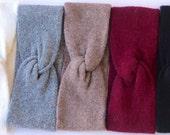 3 Headbands For Women- Wool Headband- Gift For Her- Twist Headband- Ear Warmer- Winter Accessory- Holiday Gift- Stocking Stuffer- Ear Muff