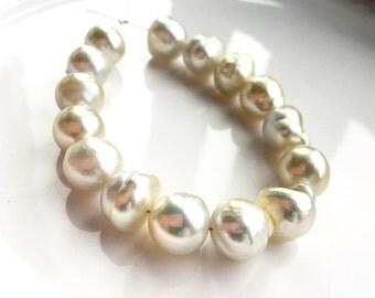 Baroque Cream South Sea Pearls - Mini Strand - (15) Pearls