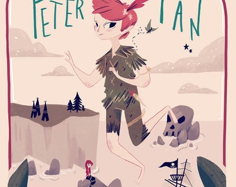 Peter Pan Book Cover - Print