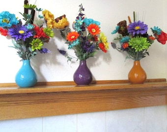 Bright Poppy and Gerbera Daisy Silk Floral Arrangements - Buy 1 or 3