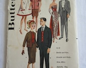 Butterick 2519 Sewing Pattern Teenage Doll Barbie Ken Clothes