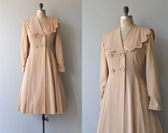 Lille princess coat   vintage 1940s coat   wool 40s coat