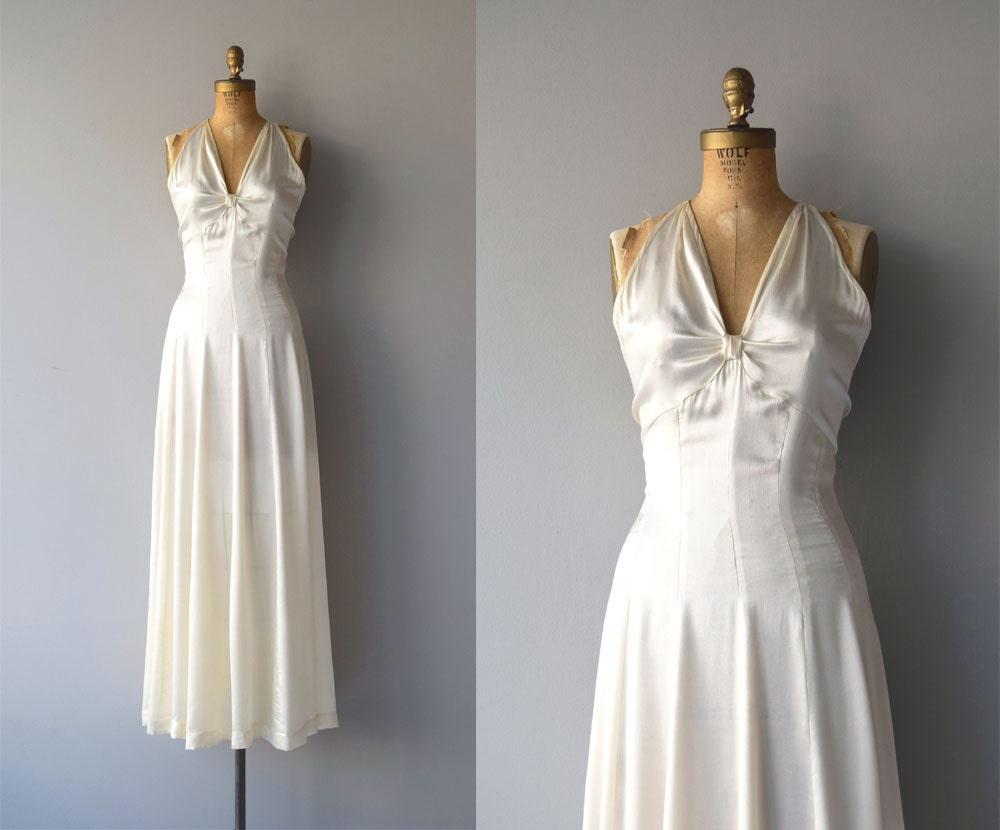 1930s Wedding Gowns: Ardennes Silk Wedding Gown Vintage 1930s Wedding Dress