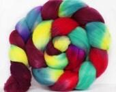 Mamacita 4 oz Targhee Roving Wool Superwash-Handpainted Top for Spinning or Crafting
