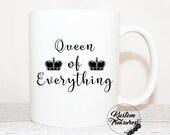Queen Mug, Girl Boss Mug, Motivational Mug, Christmas Gift, Boss Girl Mug, Inspirational Mug, Business Mug, Entrepreneur Mug