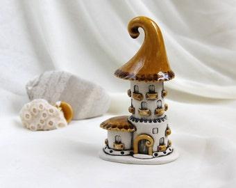 Honey-milk fairy house - unique Hand Made Ceramic Eco-Friendly Home Decor by studio Vishnya