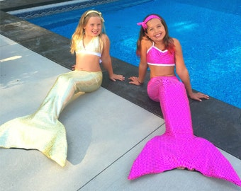 Mermaid Tail with Fin Sizes Youth Small- Adult Large