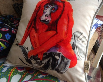 Mega Magic Monkey Bespoke piped cushion