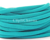 Wholesale .39+Peacock Blue Stretch Nylon Chokers...Use for bottle cap jewelry,pendants,charms, headbands/doubles as a bracelet or anklet....